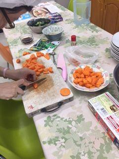 調理実習 クリームシチュー