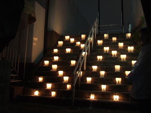 六本木で階段インスタレーション01