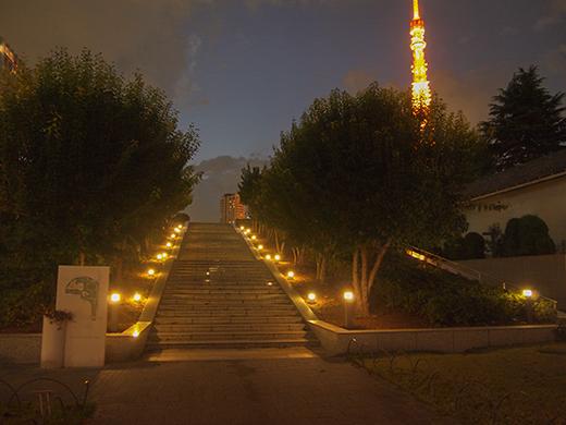 芝公園の階段の夜をぶらり2