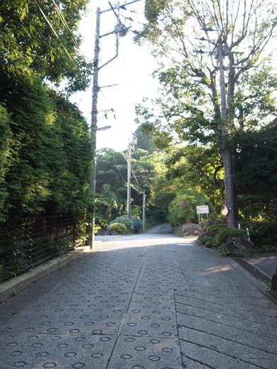 坂道を箱根登山ケーブルカーとともに4