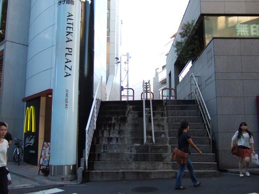 原宿表参道のMUJIの隣の階段1