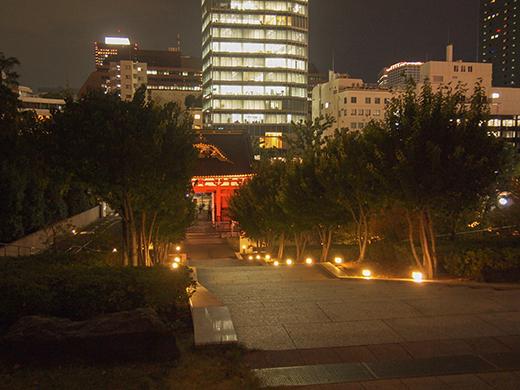 芝公園の階段の夜をぶらり4