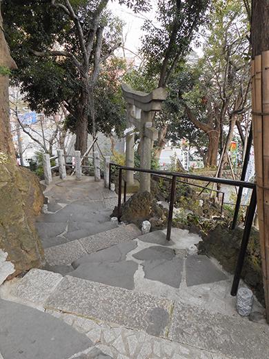 多摩川浅間神社の男坂?12
