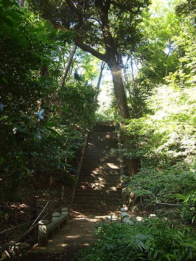 岩崎家玉川廟への階段3