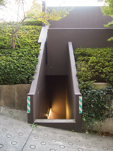 ホテルオークラ東京の坂道を歩いてみる6