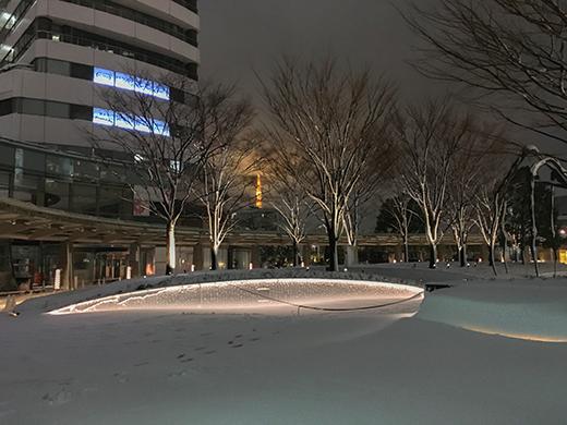 六本木坂道雪景4