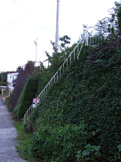 もう人は通れない地形階段と詩人の坂道2