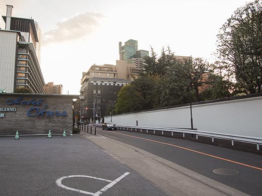 ホテルオークラ東京の坂道を歩いてみる16