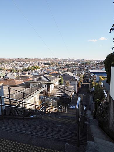 聖蹟桜ケ丘の眺めのいい階段1
