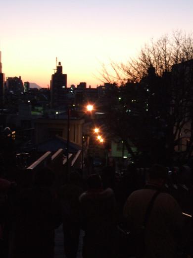 日暮里富士見坂からの富士山が・・・6