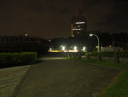 代々木体育館の坂道と東京タワー1