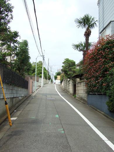 大田区立郷土博物館の北側にある眺望坂4