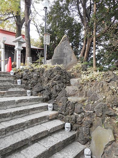 多摩川浅間神社の男坂?11