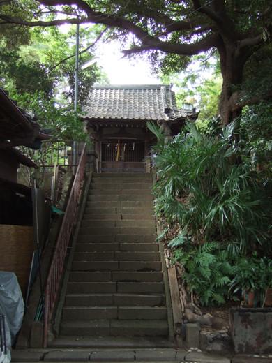 馬込城と湯殿神社の階段3