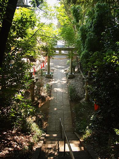 岡本八幡神社のおとこ坂?そしてユーミンの石灯篭。。5
