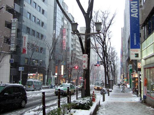 大雪の日の渋谷宮益坂1