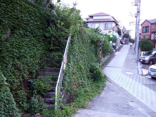 もう人は通れない地形階段と詩人の坂道1