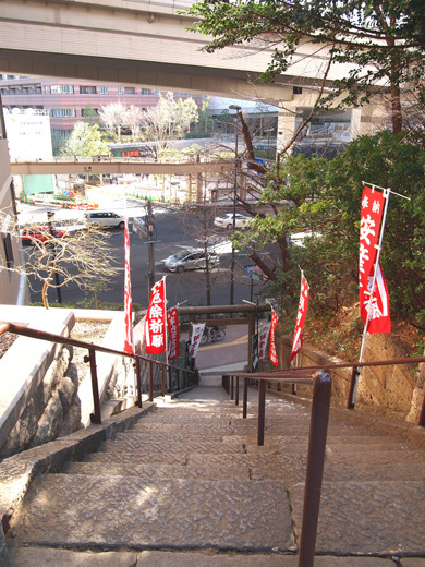 上目黒氷川神社の階段3