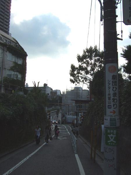 とある街の風景(線路をわたる坂道)1