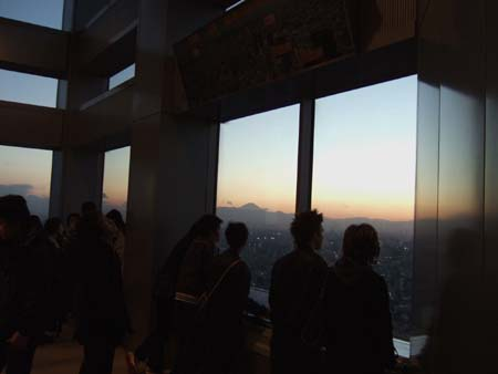 都庁からの富士山4