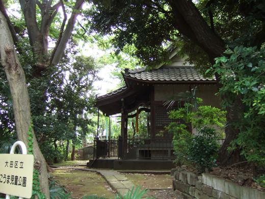 馬込城と湯殿神社の階段1
