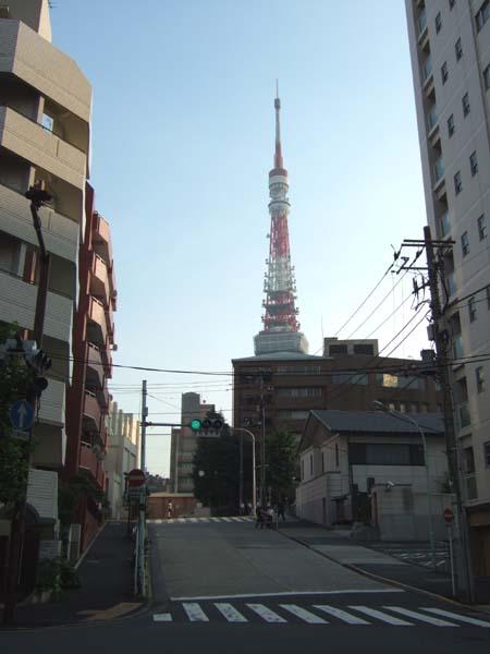 東京タワーの見える坂1