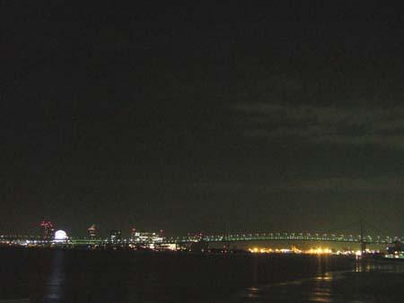 真夜中のレインボーブリッジ