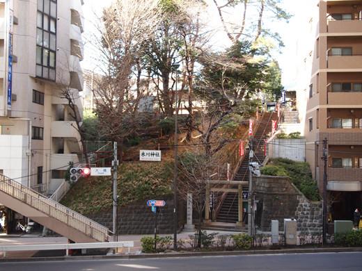 上目黒氷川神社の階段4