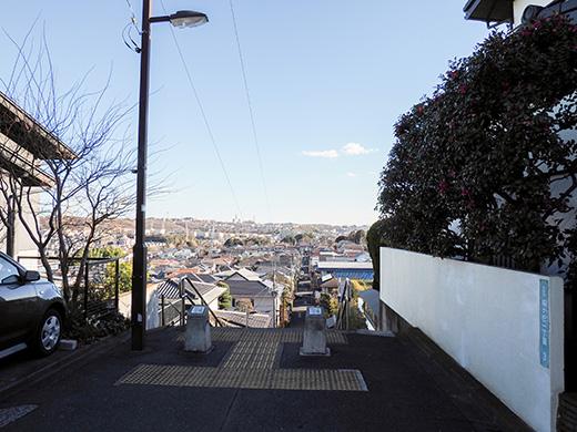 聖蹟桜ケ丘の眺めのいい階段2