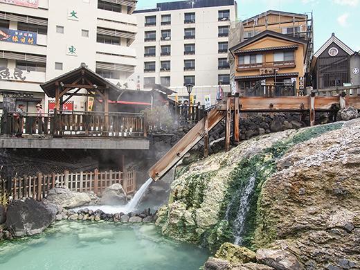 草津温泉湯畑の高低差めぐり3