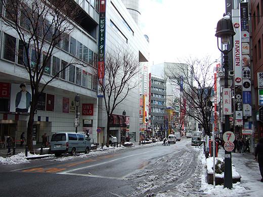 渋谷雪景2014_01