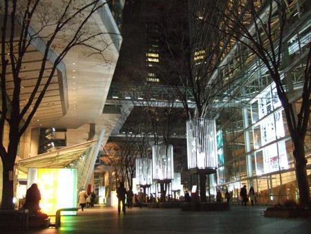 東京国際フォーラムのイルミ