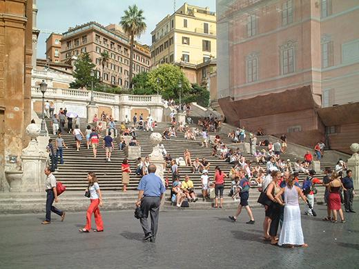 イタリア、ローマのスペイン階段1