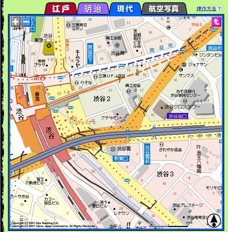 渋谷古地図_今
