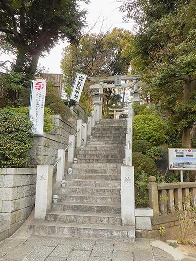 多摩川浅間神社の男坂?1