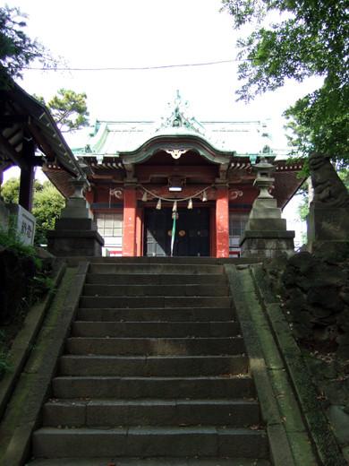 子安八幡神社の急階段6