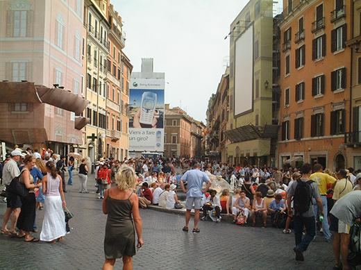 イタリア、ローマのスペイン階段2