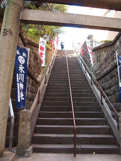 上目黒氷川神社の階段1