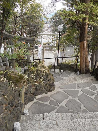多摩川浅間神社の男坂?14