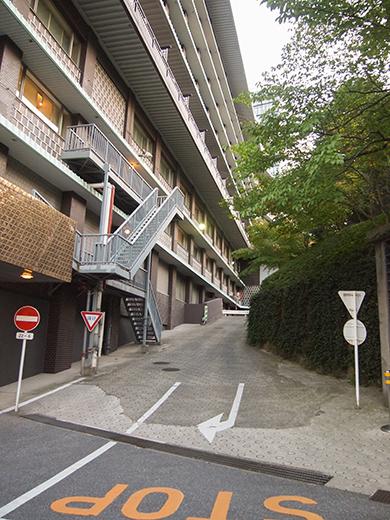 ホテルオークラ東京の坂道を歩いてみる3