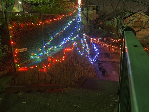 芦屋東山公園のライトアップ3