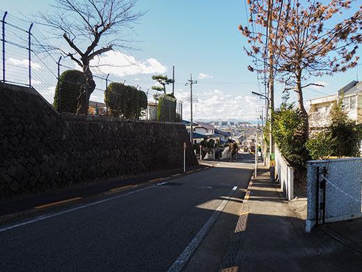 聖蹟桜ヶ丘の桜ヶ丘浄水所横の坂道2