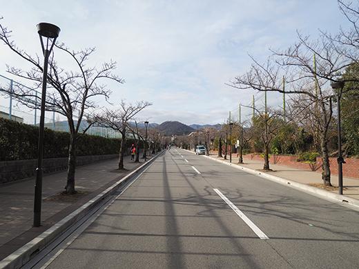 ヴォーリズの時計台と甲山への坂道1