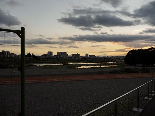 二子玉川の河川敷からの富士山と水害の記憶