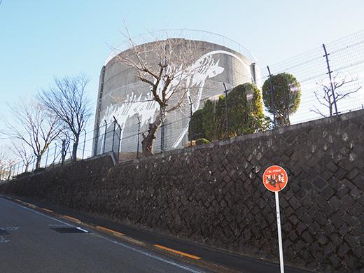 聖蹟桜ヶ丘の桜ヶ丘浄水所横の坂道3