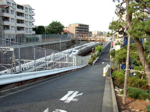 大田区相生坂の坂上の坂道1