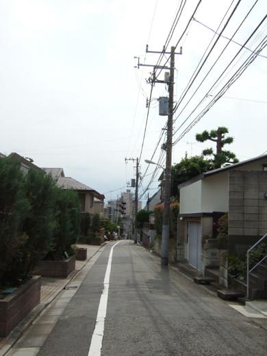 大田区立郷土博物館の北側にある眺望坂3