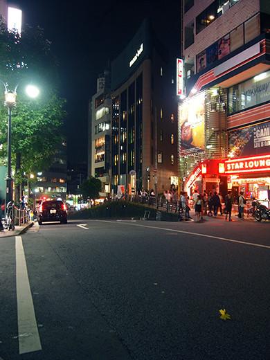 渋谷オルガン坂の夜