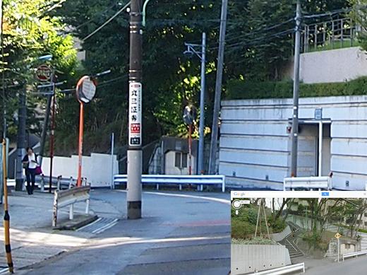 瀬田隧道の真上を通っている階段2