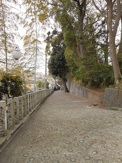 多摩川浅間神社の女坂かも?6